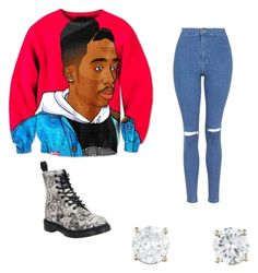 """Tupac"" by jairenee25 on Polyvore featuring Topshop and Dr. Martens"