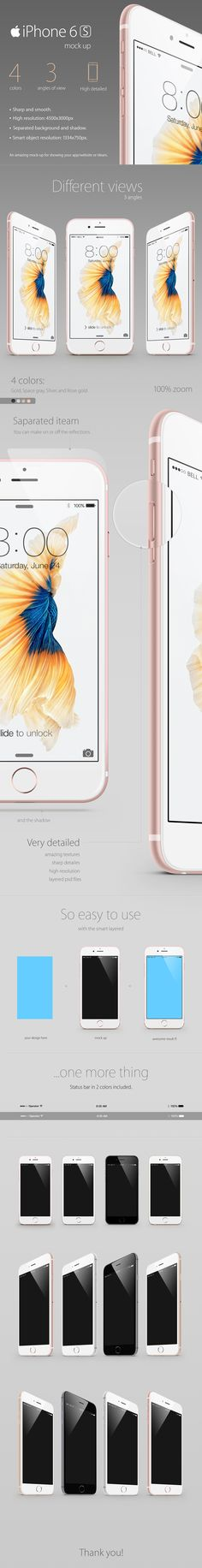 iPhone 6s Mock-up on Behance