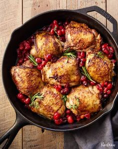 Top 10 Boneless Chicken Thigh Recipes – Page 3 – Top Recipes Easy Chicken Thigh Recipes, Chicken Skillet Recipes, Recipe Chicken, Top Recipes, Dinner Recipes, Cooking Recipes, Dinner Ideas, Holiday Recipes, Easy Recipes