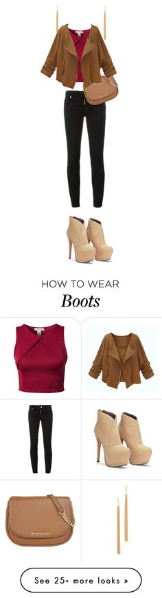 """""""my boots and I"""" by fherrrnanda on Polyvore featuring Jules Smith, Oneness, Dsquared2 and MICHAEL Michael Kors"""