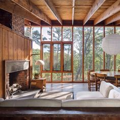 Halprin House, 1965 Hayden Walling Cape Cod, MA. #cabin #interior #interiordesign #nature