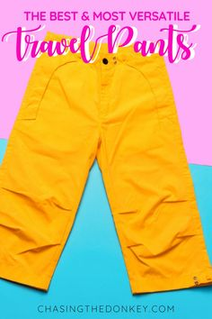 Travel Gear Guide: If you're looking for the perfect travel pants for your next adventure, we've got the ultimate guide for you. Compare the best travel pants on the market that are durable, easy to clean, full of safety features and more. #TravelTips #PackingTips #TravelGear #AdventureTravel #WomensClothing #TravelIdeas