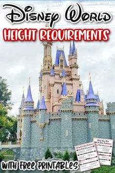 Planning a Disney vacation? If you're travelling with kids, you'll want to know all the Disney World height requirements! Get details about height requirements at Disney and learn about the awesome rider swap option so everyone can ride. Plus, download these free printables to help you keep track while you're there! #disneyworldheightrequirements #disneyworldprintables #Disneyvacation #waltdisneyworldvacation #disneyridesandattractions Walt Disney World Rides, Disney World Attractions, Disney World Theme Parks, Disney Vacations, Disney Travel, Disney World Height Requirements, Family Vacation Destinations, Vacation Ideas, Moving To Florida