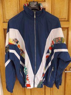 3280b00724 Vintage tracksuit top size large 80`s casuals retro sports jacket festival