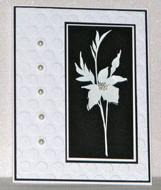 TLC339 ~ Black and White Floret by Broom - Cards and Paper Crafts at Splitcoaststampers