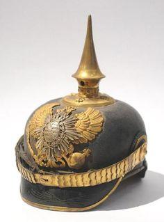 SAXE WEIMAR. Casque à pointe d'officier de reserve du régiment d'infanterie