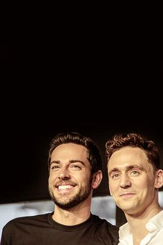 Tom Hiddleston and Zachary Levi at SDCC 2013 Nerd HQ Conversations for a Cause, July 2013.  Two of the most adorable nerds ever!