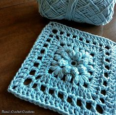 Pretty floral square that can be made with a solid color or two or three.