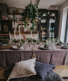 Hygge Christmas, Christmas Kitchen, Christmas Home, Project Table, Christmas Decorations, Table Decorations, Table Settings, New Homes, Instagram