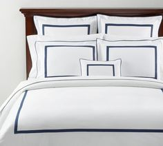 """The """"Morgan"""" Duvet Cover by Pottery Barn can help you recreate the look of a Cosmopolitan suite at home."""