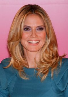 Heidi Klums long layered hairstyle hair-and-beauty