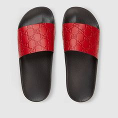 0a522ab0504ce7 Gucci Gucci Signature slide sandal Detail 3 Glitter Shoes