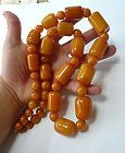 HUGE ANTIQUE BUTTERSCOTCH EGG YOLK AMBER BEAD NECKLACE 34 LONG WEIGH 207.8 GRAM - 207.8, 3/4quot, AMBER, Antique, Bead, Butterscotch, Gram, HUGE, Long, Necklace, WEIGH, yolk - http://designerjewelrygalleria.com/vintage-jewelry/huge-antique-butterscotch-egg-yolk-amber-bead-necklace-34-long-weigh-207-8-gram/