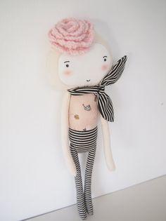 Flower cream with scarf by pocoleizi