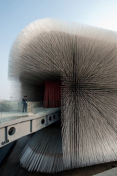 Seed Cathedral' by Thomas Heatherwick functions as the UK's pavilion at Expo 2010 in Shanghai