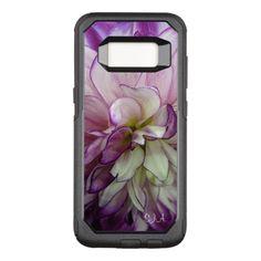 Purple Dahlia Design Otter Box OtterBox Commuter Samsung Galaxy S8 Case