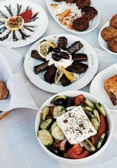 Traditional Greek mezes