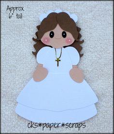 Communion/Baptism Cross Necklace Girl Scrapbook Paper Piecing