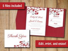 DIY Wedding Pocketfold Template Download