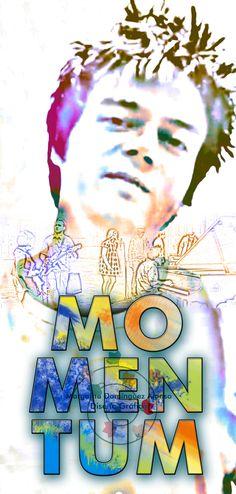 Ilustración digital inspirada en Jamie Cullum y su gira Momentum