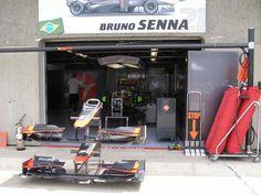 Bruno Senna Garage 2010 Canadian GP Pit Lane (Photo by: Jose Romero Lopez)