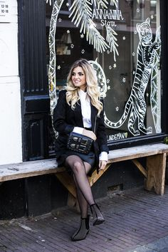 Look by Roos Van Der Aa  PRODUCT: http://toral-shoes.com/stores/es/botas-botines/83-tr-10515silver.html  #leather #black #boots #fashion
