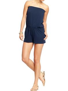 Women's Jersey Tube Rompers Product Image