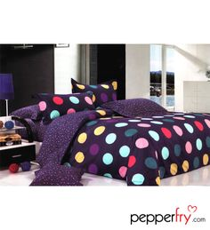 Multicolour Polka Dot Bedding Set