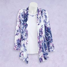 Bouquet Two For Cardigan - Casual Women's Clothing and Fashion Accessories - Exclusive Styles in Misses and Womens Plus Sizes | Serengeti