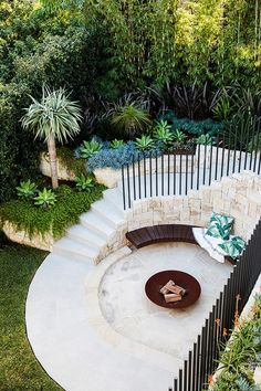 This impressive garden makeover cleverly links the terrace and pool area with an inviting entertaining zone. Back Gardens, Outdoor Gardens, Indoor Outdoor, Outdoor Spaces, Courtyard Gardens, Zen Gardens, Cottage Gardens, Small Gardens, Sydney Gardens