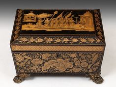 Penwork Sewing Box (United Kingdom)c.1815. Stunning!