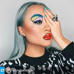 Check out this pop art inspired look created by New Zealand's @annabellstyle. #furlesscosmetics #makeupartist #mua #makeup #bvloggers #cfbeauty