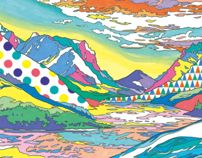 LOVE HIS COLOURS! Landscapes by ASAKURA KOUHEI, via Behance