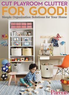 Get that playroom in order with these simple tips for tackling toy storage. #organization