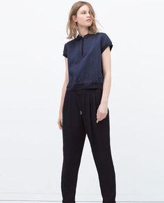 изображение 2 из БРЮКИ СО ШНУРОМ НА ТАЛИИ от Zara
