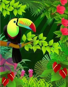 Image detail for -Oiseau Toucan Dans La Jungle. Clip Art Libres De Droits , Vecteurs Et ...
