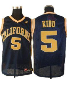 d97aa18dea6 Golden Bears  5 Jason Kidd Blue Basketball Stitched NCAA Jersey