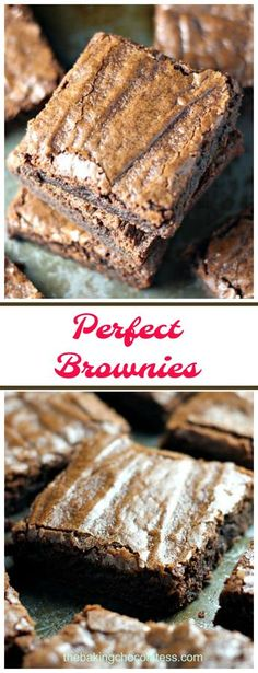 Perfect Brownies {For that Chocolate 'Fix'} via @h…
