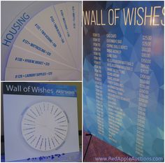 Nice display for a Wall of Wishes donation activity #AuctionActivities #NonprofitAuction