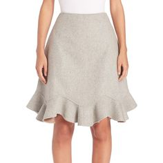 Mary Katrantzou Larimar Wool & Cashmere Flounce Skirt (984,710 KRW) ❤ liked on Polyvore featuring skirts, apparel & accessories, pink wool skirt, pink ruffle skirt, flouncy skirt, woolen skirt and cashmere skirt