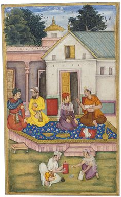 Ascribed to Kanha. An illustration from a Razm-nama manuscript. Gouache heightened with gold on paper, Mughal, ca. 1598-99