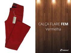 A Peça do Dia é essa linda Calça Flare Vermelha da Fargaz Jeans! APostem!!!