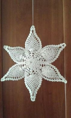 gwiazda szydełko na Stylowi. Filet Crochet, Crochet Motifs, Thread Crochet, Crochet Crafts, Crochet Doilies, Crochet Flowers, Crochet Stitches, Crochet Projects, Knit Crochet