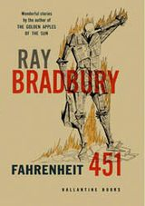 #awallofbooks Farenheit 451, by Ray Bradbury