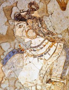 Mistress of the Animals from Xeste 3, Akrotiri, Thera 17th C b.c.e.
