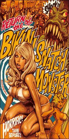 Rockin Jellybean - Bikini Snatch Monster towel and bag set