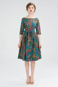 Boatneck dress 50s dress plus size dress green di mrspomeranz