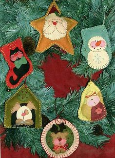 Free Felt Christmas Ornament Patterns | anniescupboards: Free Felt Christmas Elf Ornie Pattern