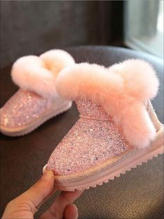 Cute baby shoes - Girls Sparkle Furry Ankle Boots By Liv and Mia – Cute baby shoes Little Girl Outfits, Kids Outfits Girls, Little Girl Fashion, Toddler Outfits, Kids Fashion, Fashion Clothes, Kids Girls Shoes, Fashion 2016, Fashion Images