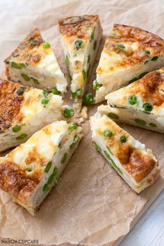 Brilliant for cutting carbs but still boosting protein - make this crustless quiche with pea, mint and feta cheese - easy tasty recipe using shortcrust pastry for spring summer picnics and packed lunches recipes tasty,healthy recipes Quiche Recipes, Veggie Recipes, Vegetarian Recipes, Cooking Recipes, Healthy Recipes, Fennel Recipes, Terrine Recipes, Atkins Recipes, Veggies